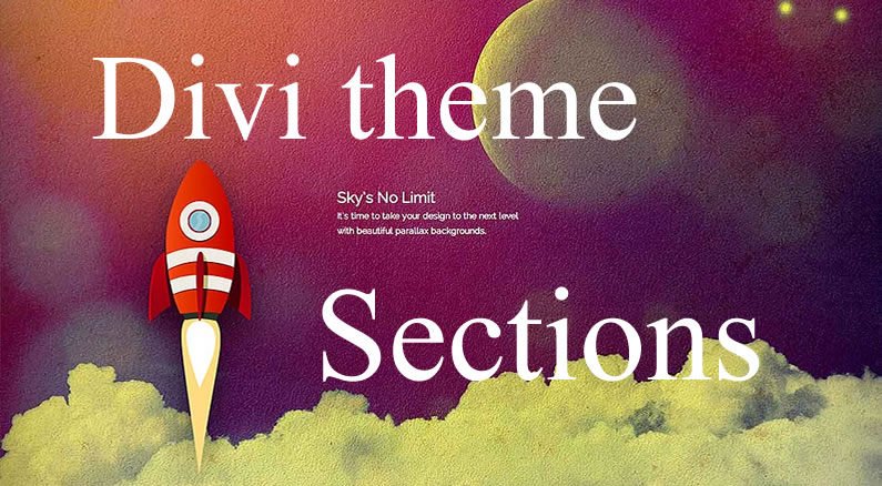 Divi theme: The creative power of Divi Sections