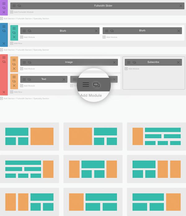 divi 2 layout options