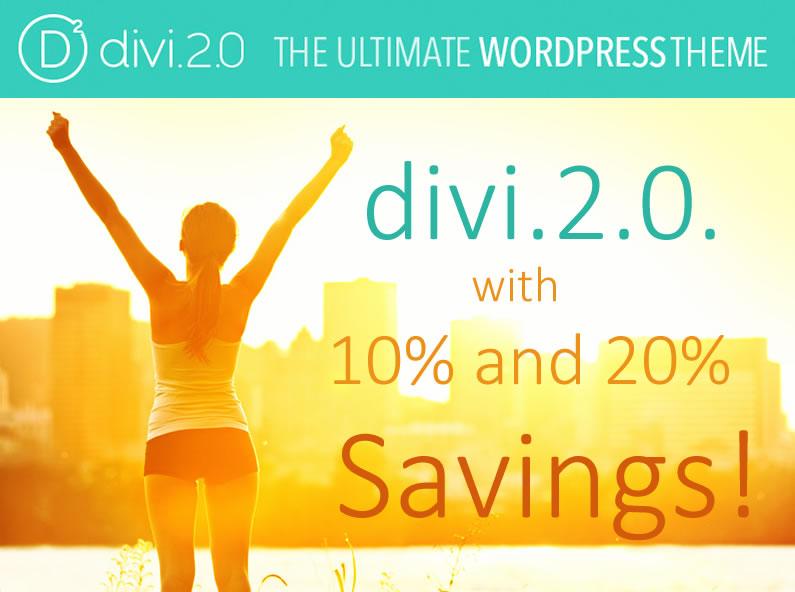 Divi 2.0 savings and discount deals