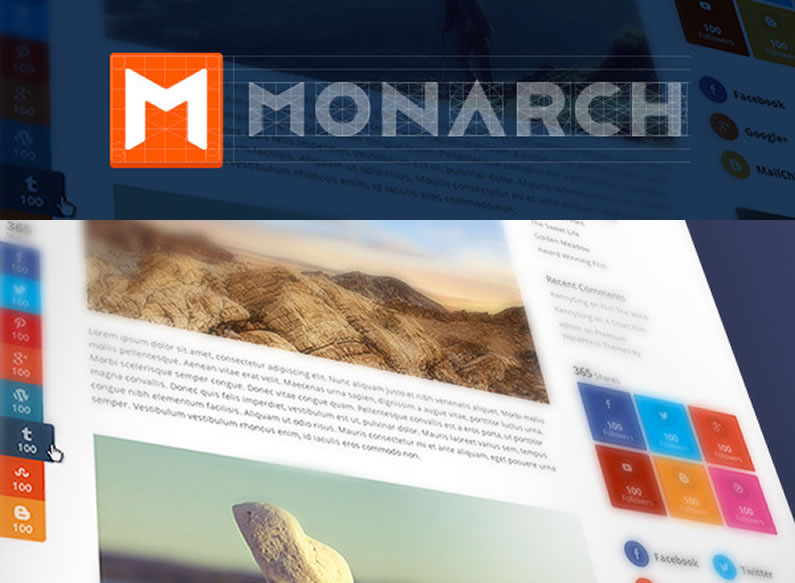 Monarch Social Sharing plugin: Sneak peek