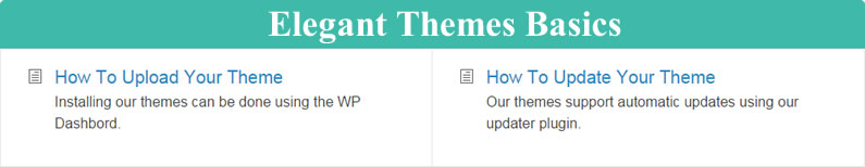divi documentation elegant themes basics