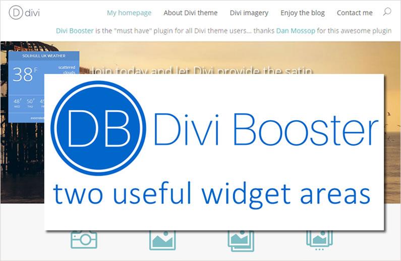 Divi Booster plugin: two premium widget areas