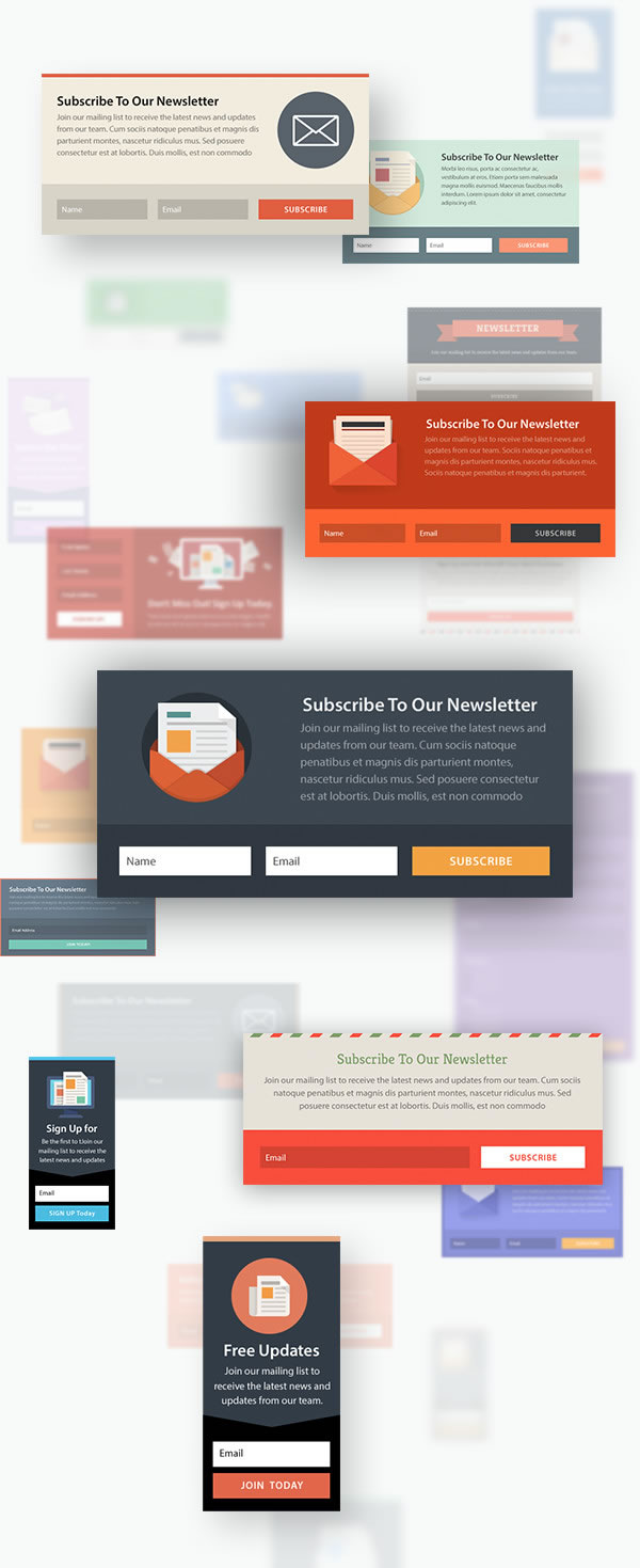 bloom optin plugin premade templates