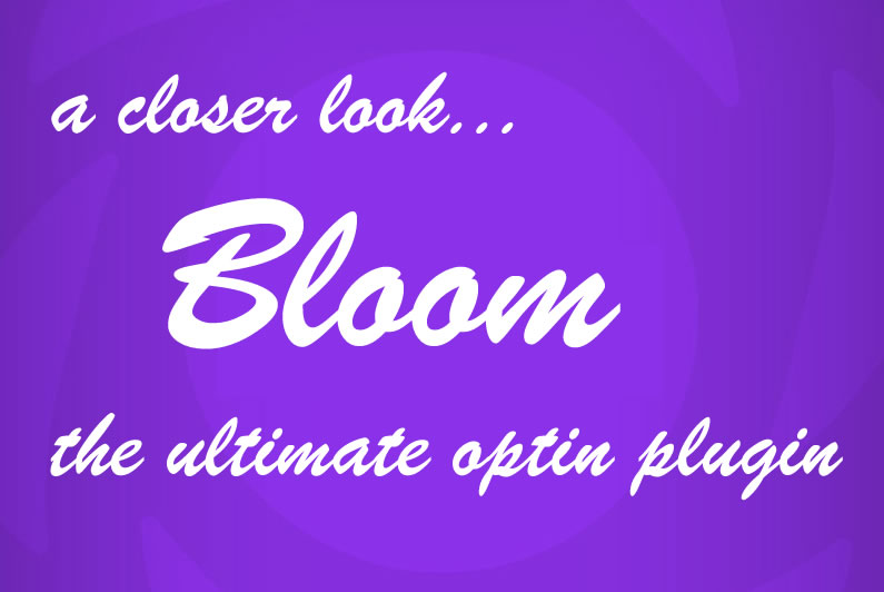 Bloom email optin plugin: a closer look