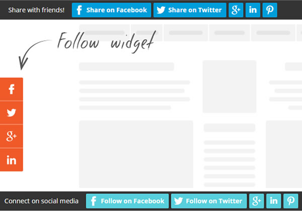 getsitecontrol social follow and social share widget