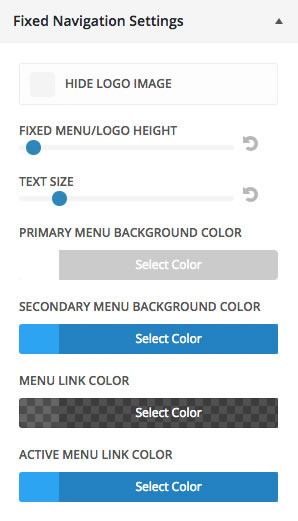 thesis navigation menu color