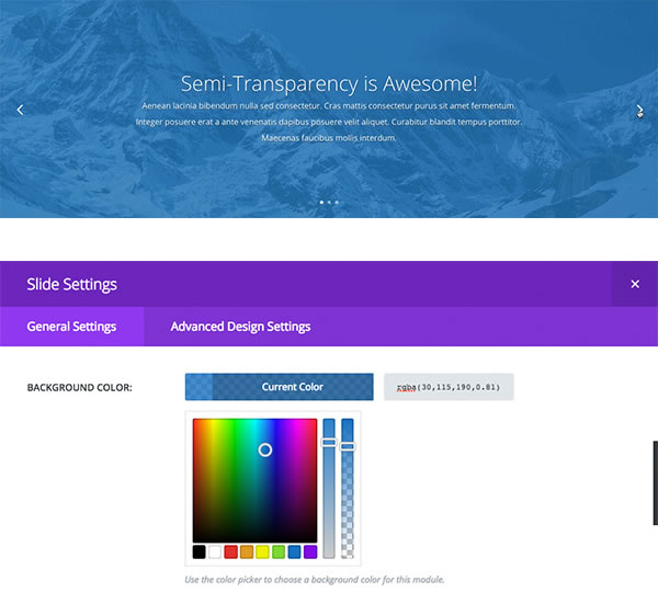 how to change background color in divi