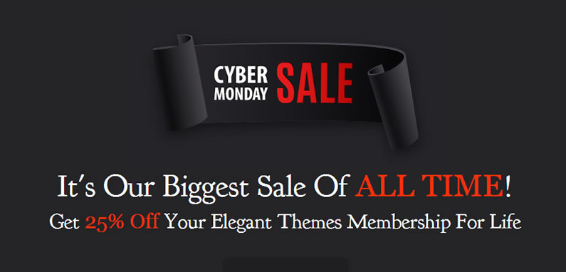 elegant themes cyber monday deals on themes and plugins