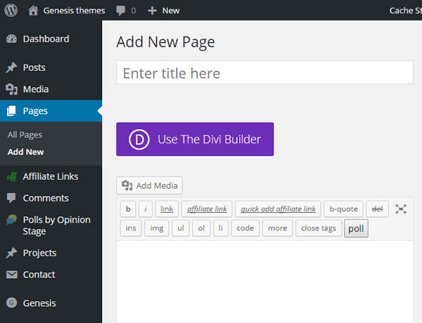 divi builder plugin use button