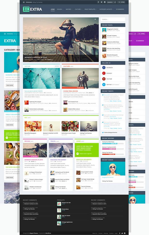 Extra Magazine theme online publications blogs