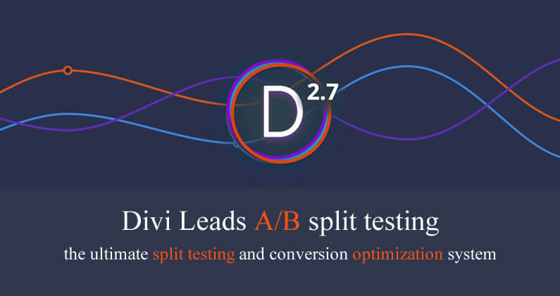 Divi 2.7 – Divi Leads A/B split testing and optimisation