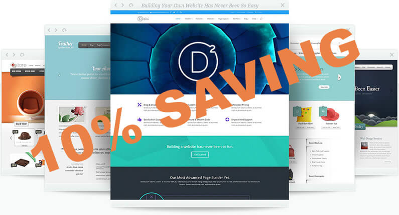 Divi / Elegant Themes – Get 10% off now!