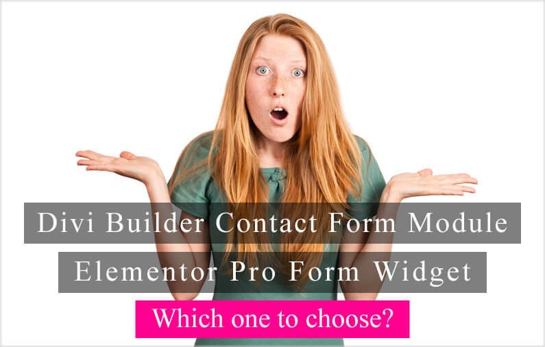 Divi Builder Contact Form Module Vs Elementor Pro Form Widget