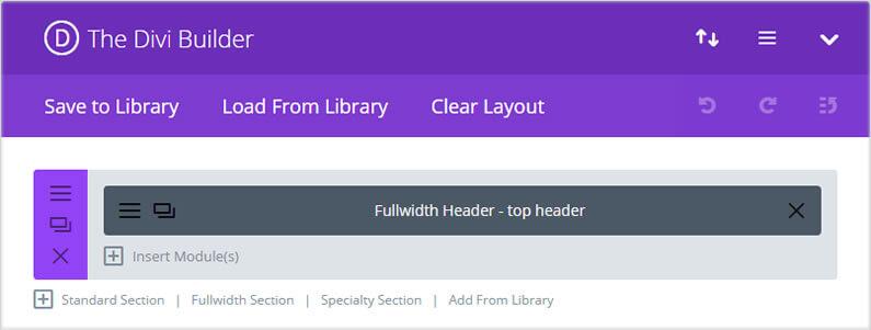 stunning divi homepage divi fullwidth header module