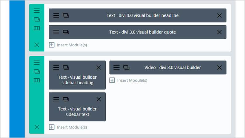 stunning divi homepage divi text module