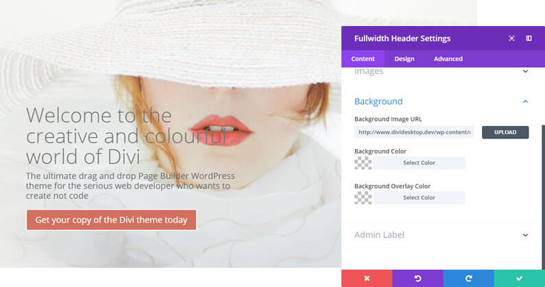 Divi theme Settings: now with separate Content and Style tabs