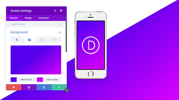 divi's new gradient backgrounds