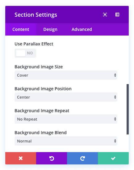 new divi background image controls