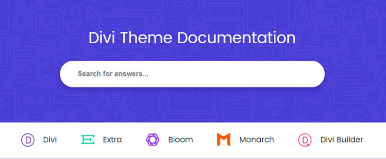 new divi documentation is searchable