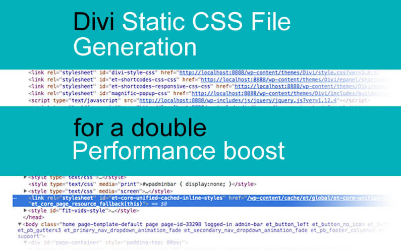 Divi Static CSS File Generation for a double performance boost