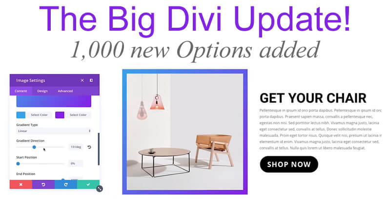 The Big Divi Update – 1,000 New, Improved and Easier to Understand Options