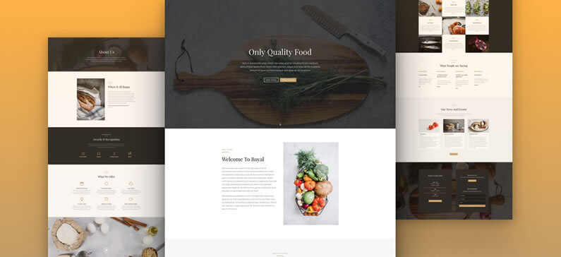 free divi layout pack for restaurant websites