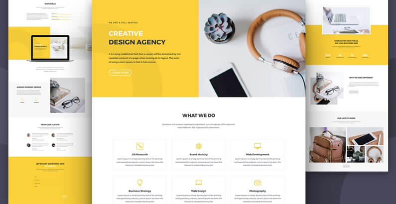 free divi layout pack for design agency websites