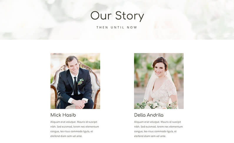 free divi layout pack for wedding websites