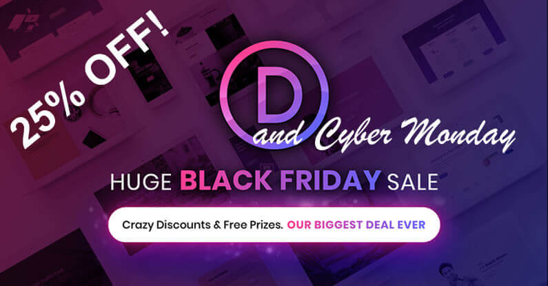 Divi / Elegant Themes Black Friday and Cyber Monday discount deals