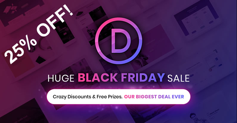 divi black friday sale 2017