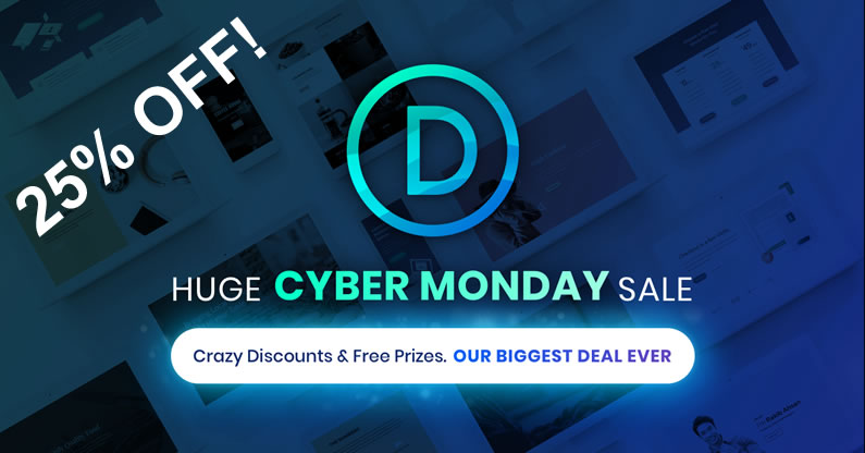 divi cyber monday sale 2017