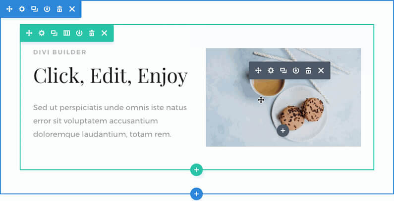 divi visual builder click mode