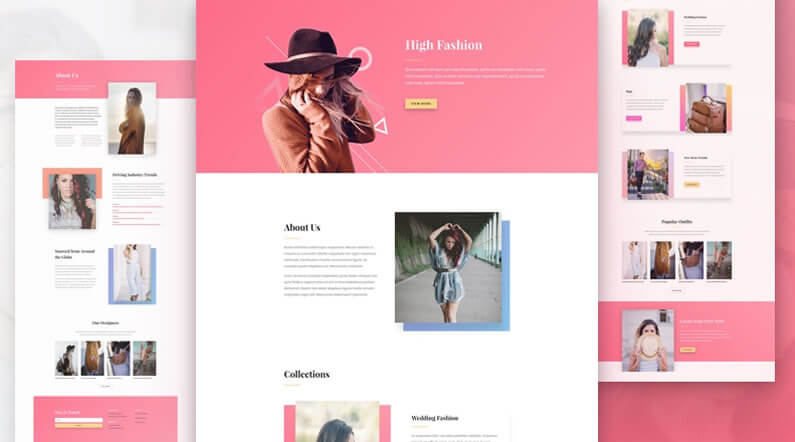 free divi layout pack for fashion websites