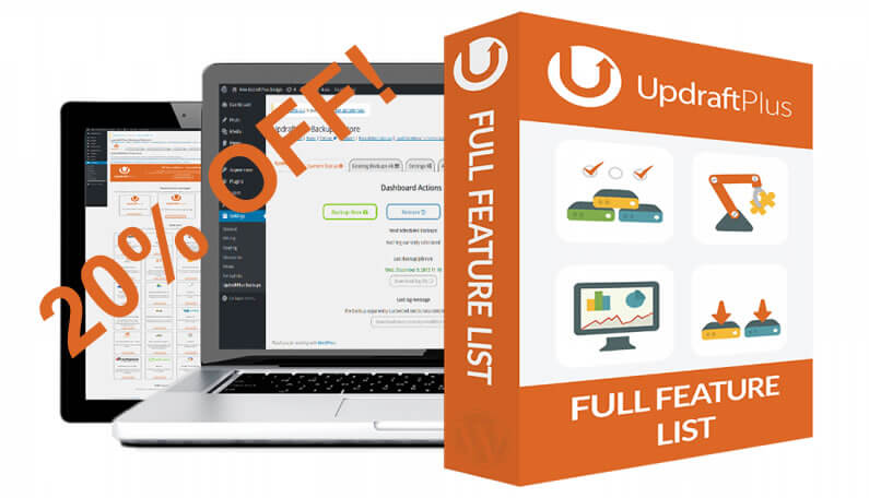 UpdraftPlus WordPress backup plugin – Black Friday deal with 20% saving!