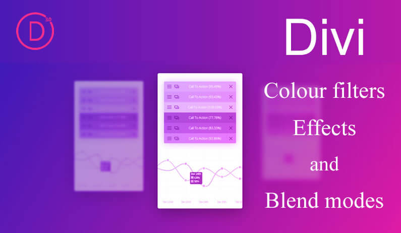 Divi Colour Filters, Effects and Blend Modes for all Images, Modules, Rows and Sections
