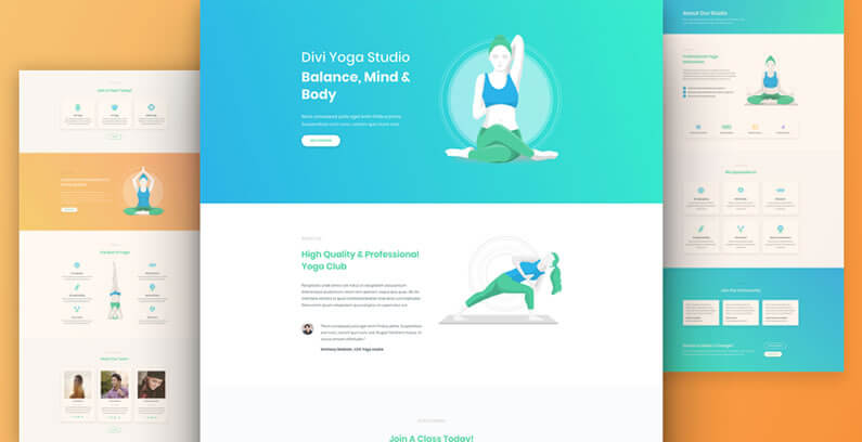 free divi layout pack for yoga websites