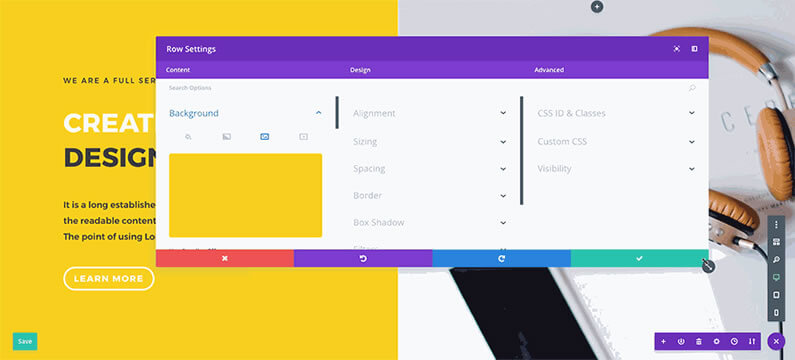 divi visual builder responsive and fluid interface