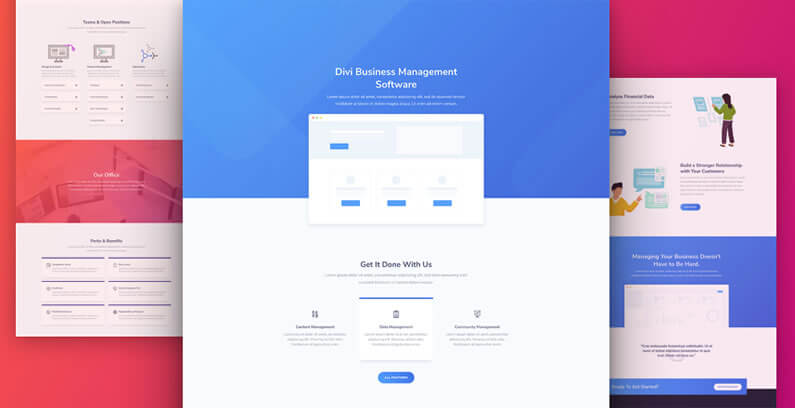 free divi layout pack for SaaS websites