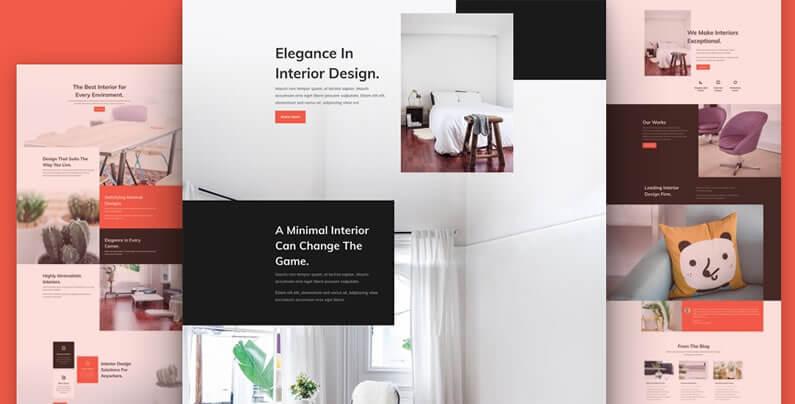 free divi layout pack for interior design websites
