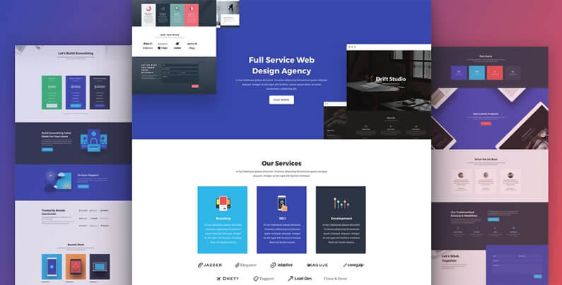 free divi layout pack for web agency websites