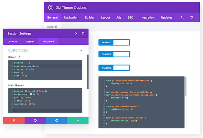 Divi's Dedicated Code Editor – for quick and easy error-free code writing