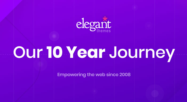 elegant themes 10th anniversary celebrations
