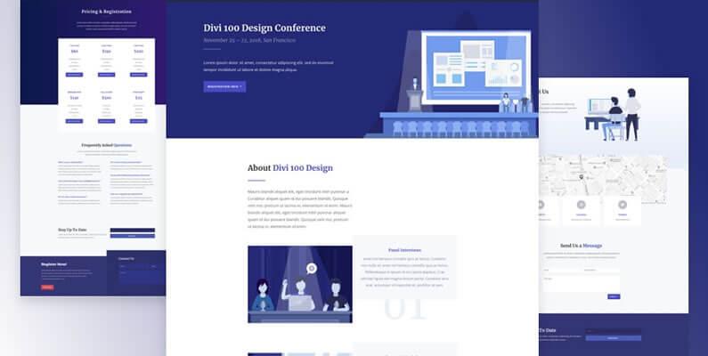 free divi layout pack for design conference websites