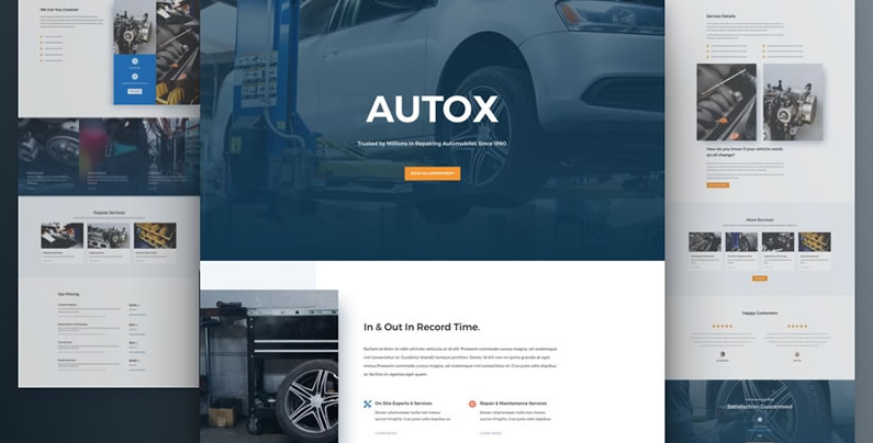 free divi layout pack for Auto Repair websites