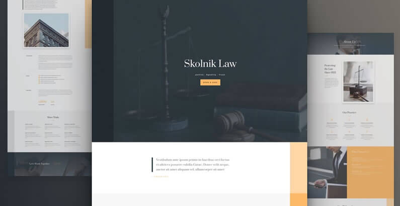 free divi layout pack for Law Firm websites