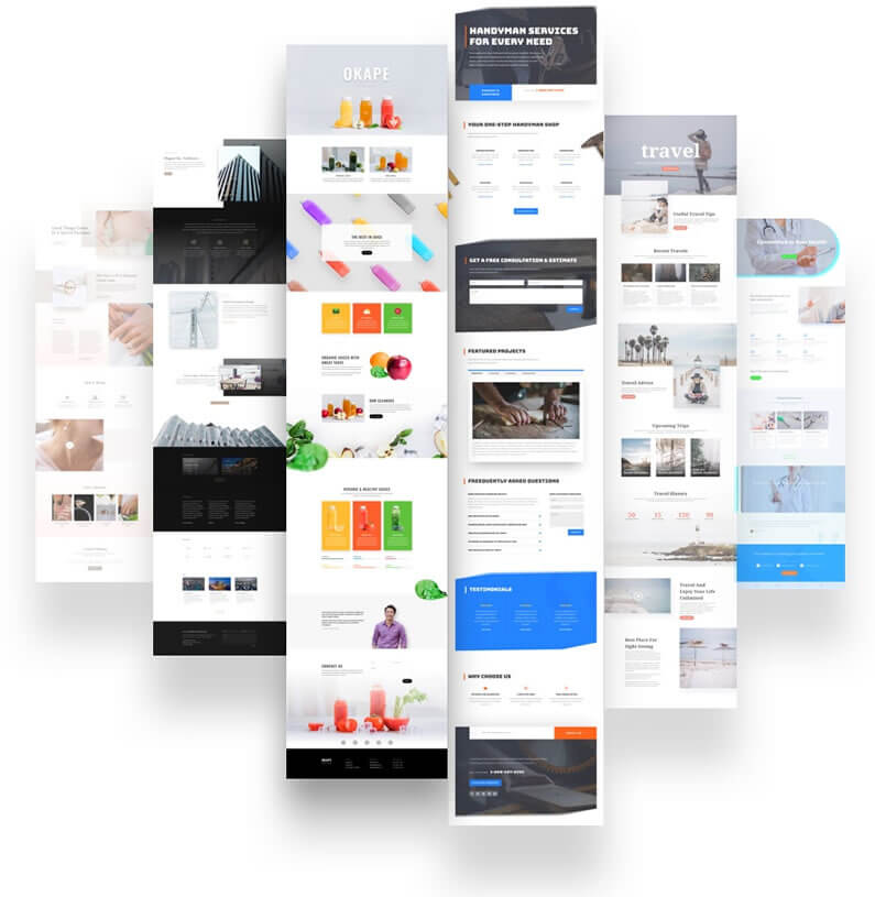 two free divi layout packs per week