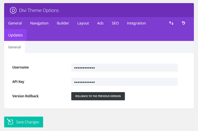 roll back your Divi version with a single mouse click