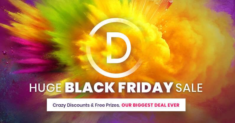 Divi / Elegant Themes Black Friday Discounts, Free Prizes, Bonus Gifts and a chance to win an iMac Pro!