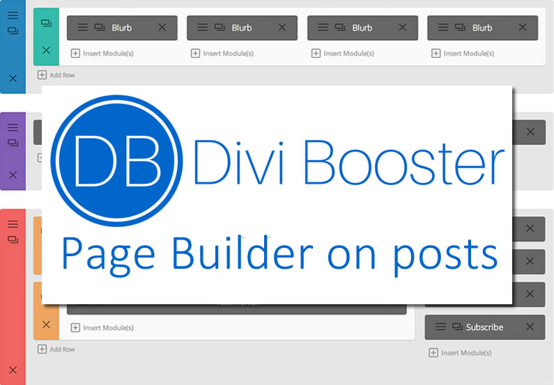 Divi Booster plugin: add Page Builder to posts