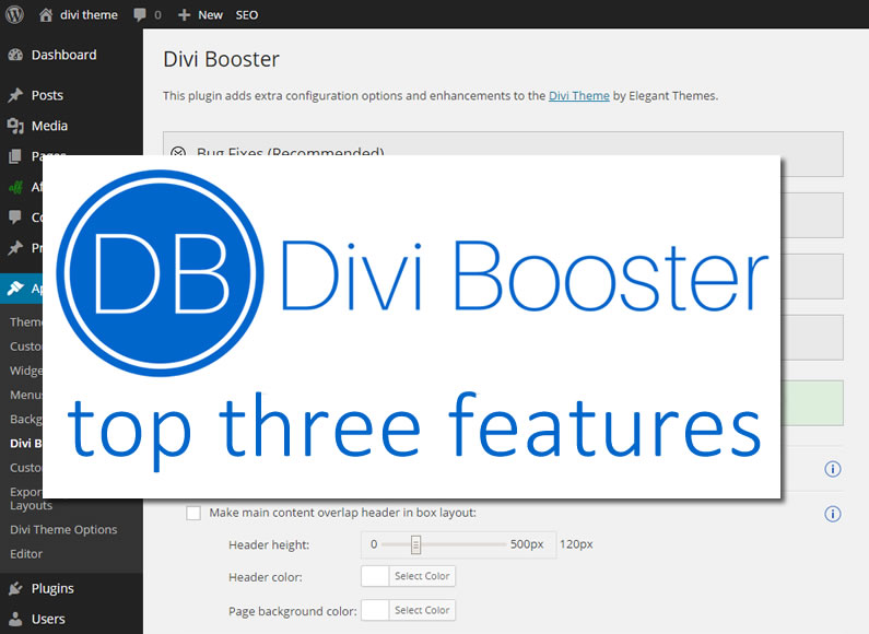 Divi Booster plugin: my top three features